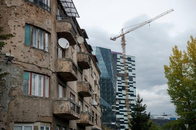 Bosnien Haus mit Einschusslöchern